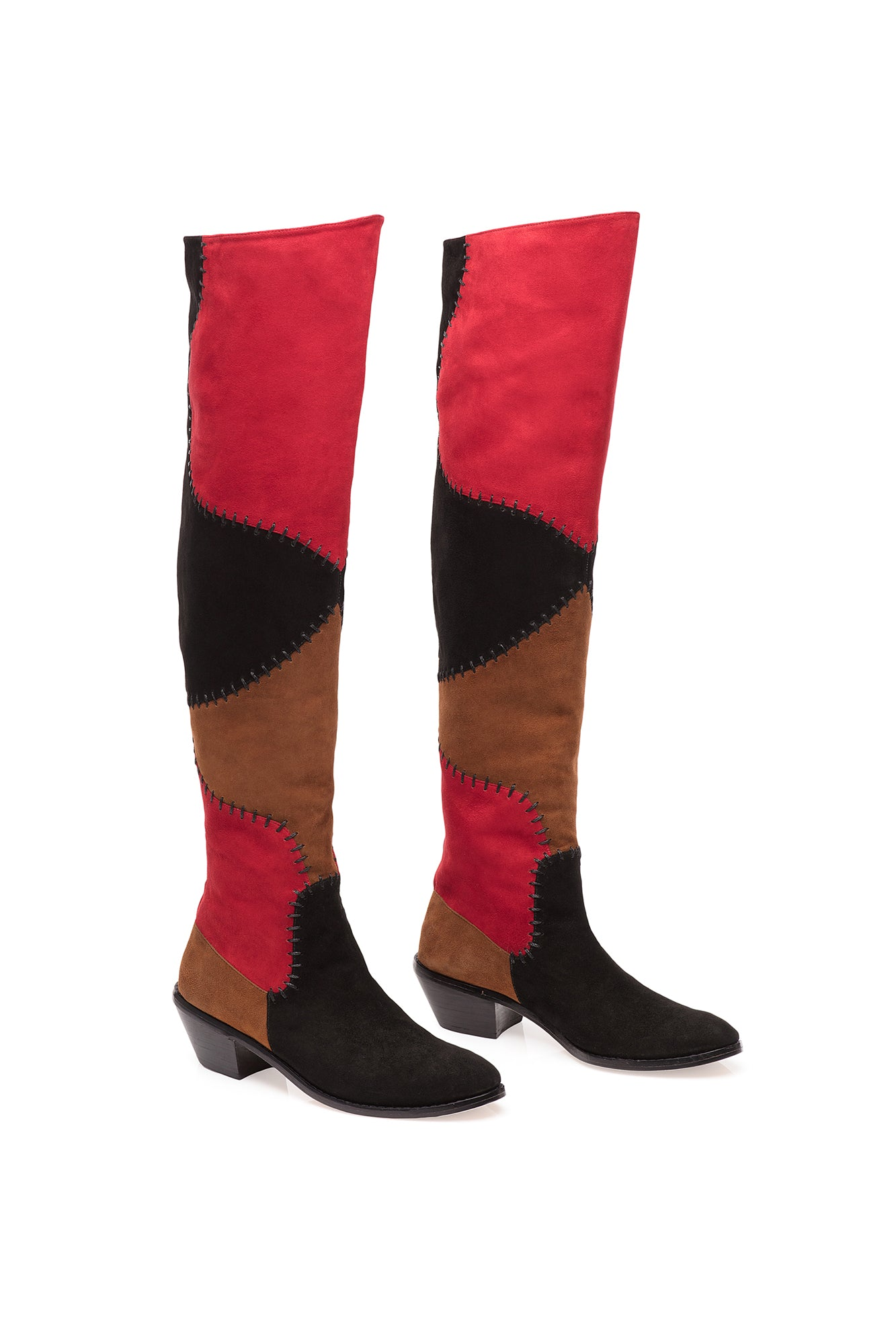 Carolina K Patch Boot Black/Red