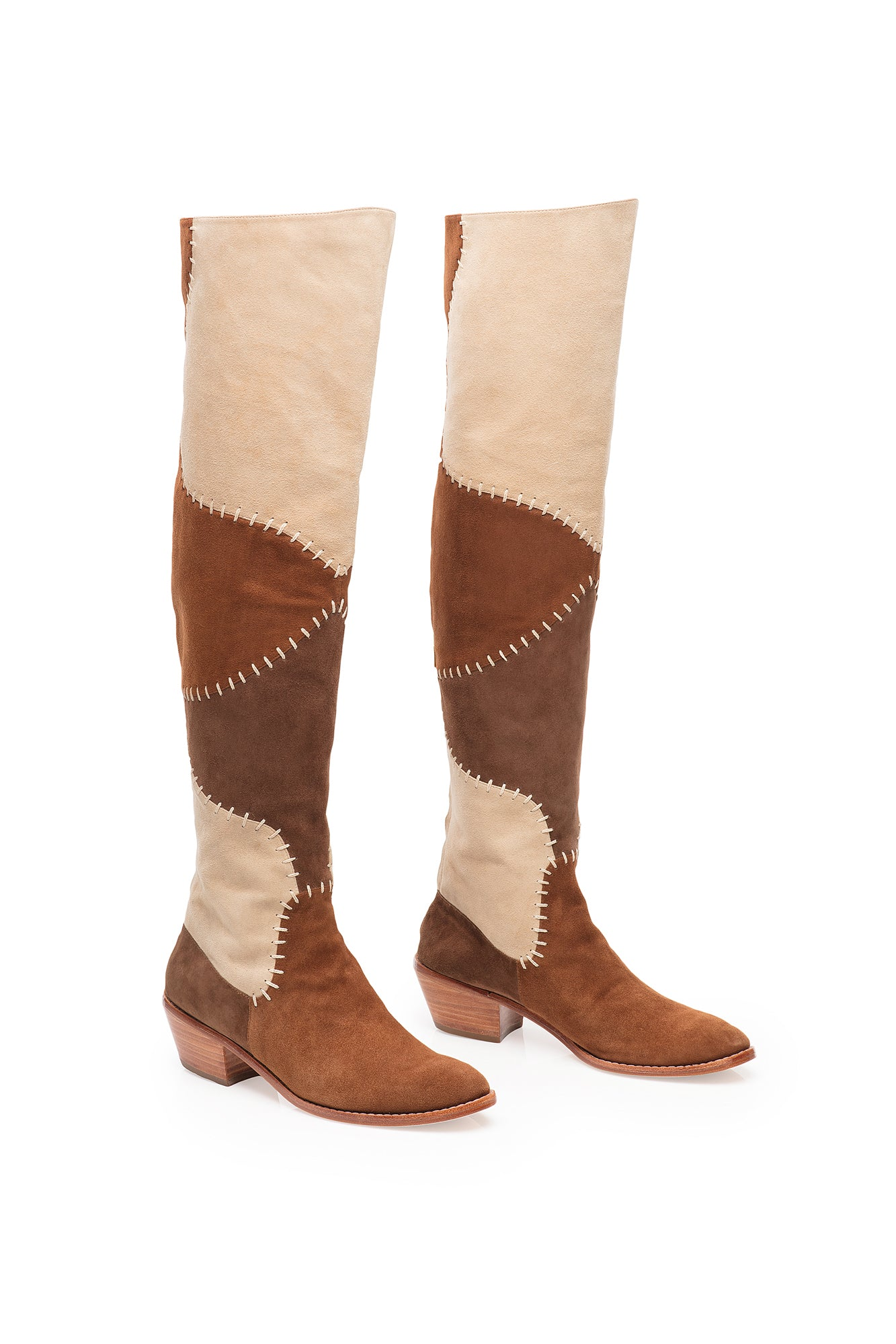 Carolina K Patch Boot Brown