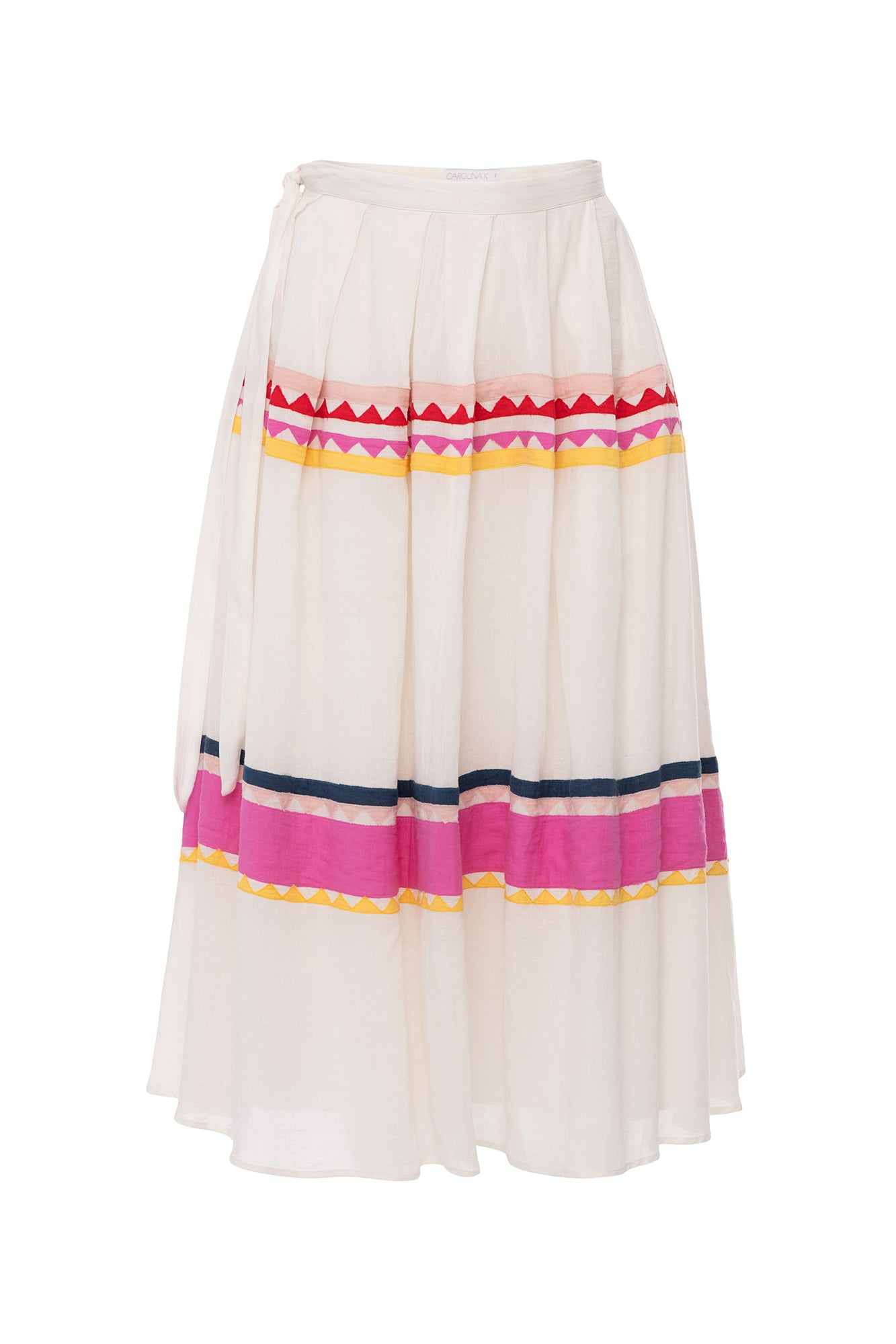 Carolina K Rosa Skirt White/Triangles