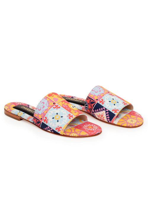 Carolina K Slip On Sandal in Terracotta Tile Multi