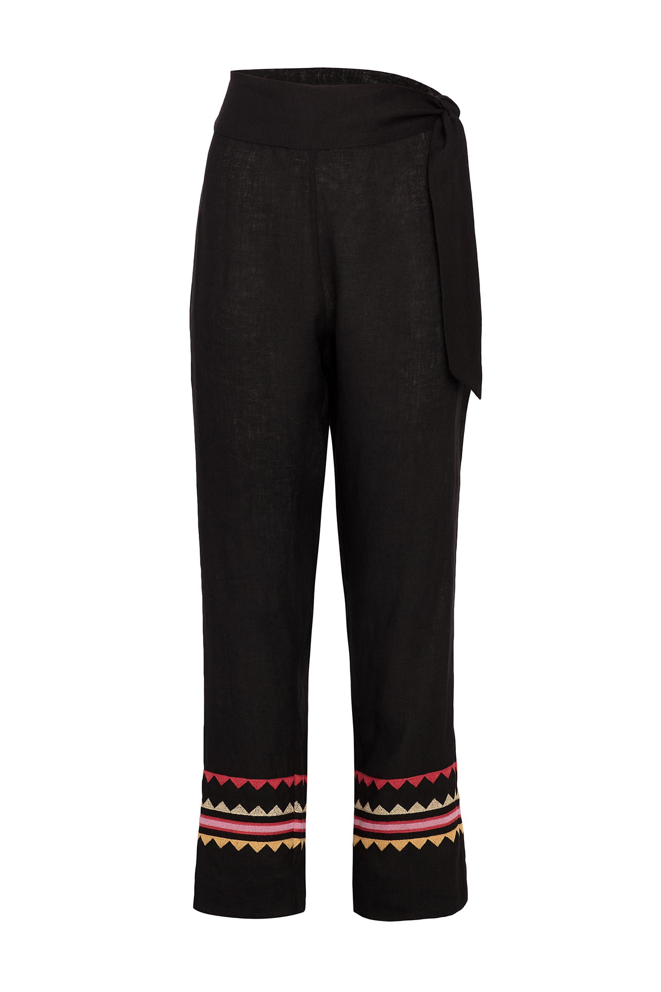 Carolina K Straight Pant Black Triangles