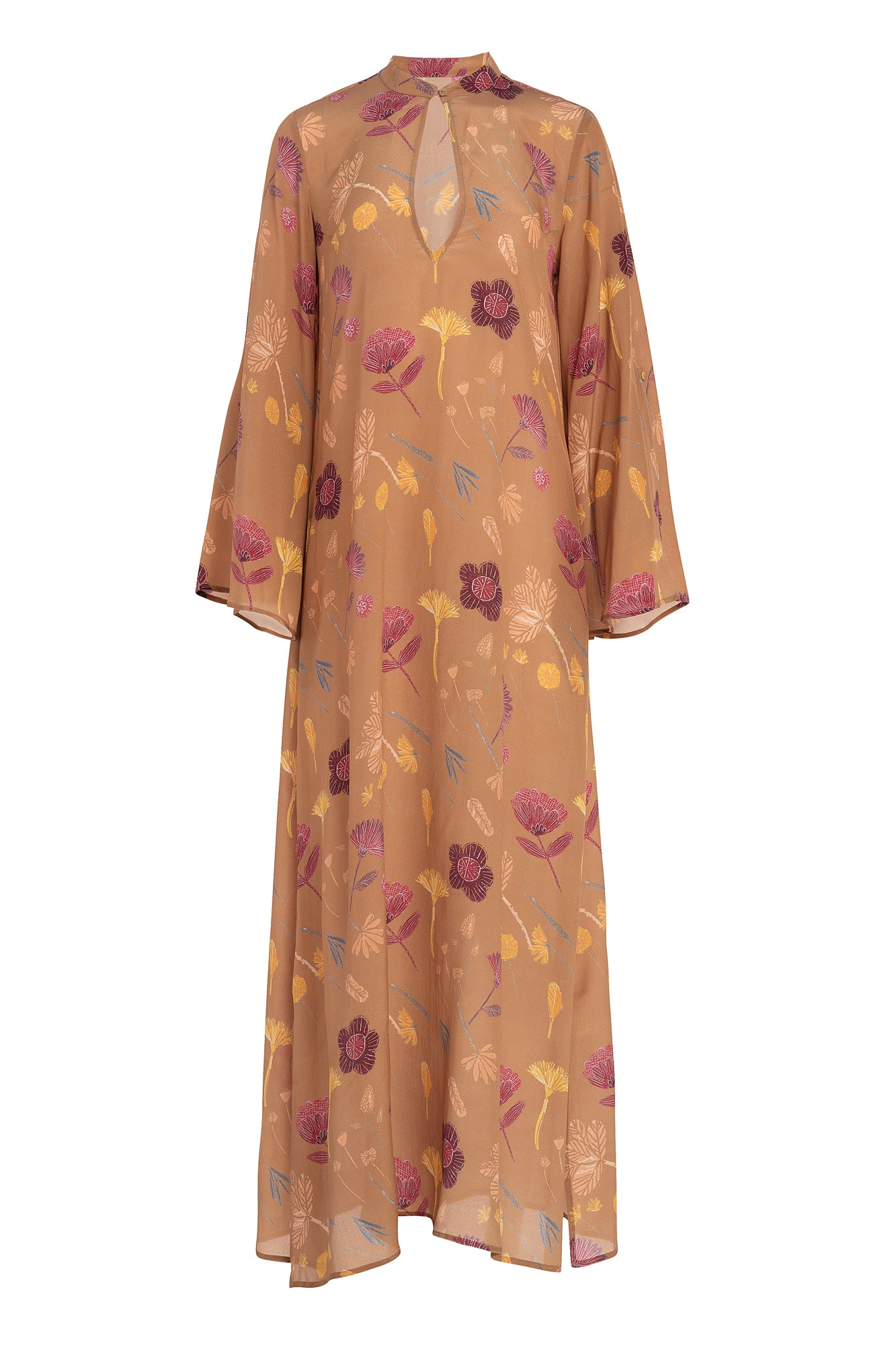 Carolina K Saturday Kaftan in Cinnamon Tea Flowers