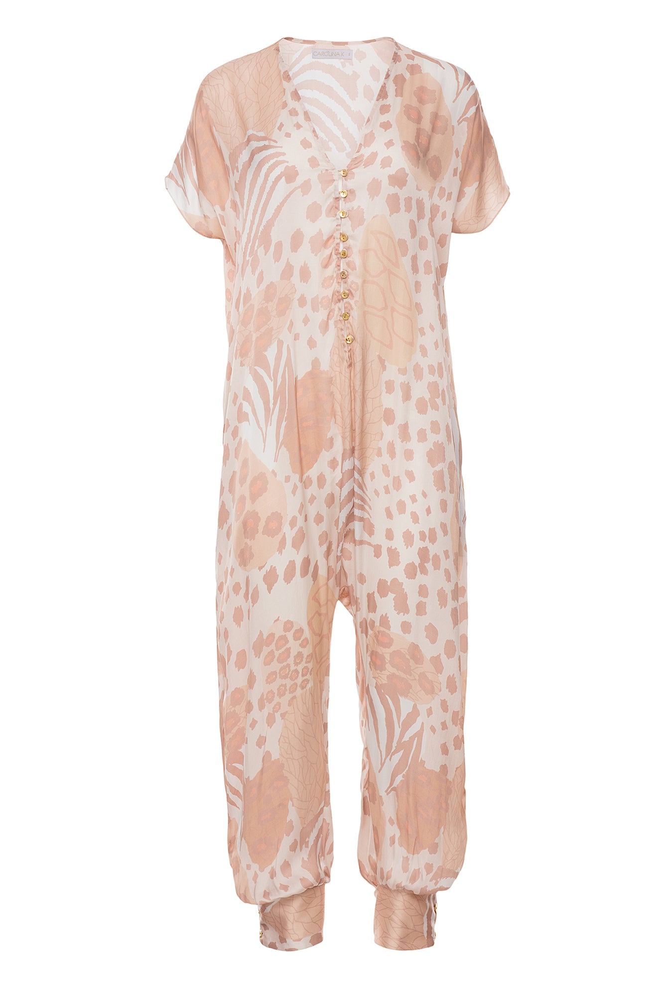 Carolina K Sera Jumpsuit Champagne Jungle