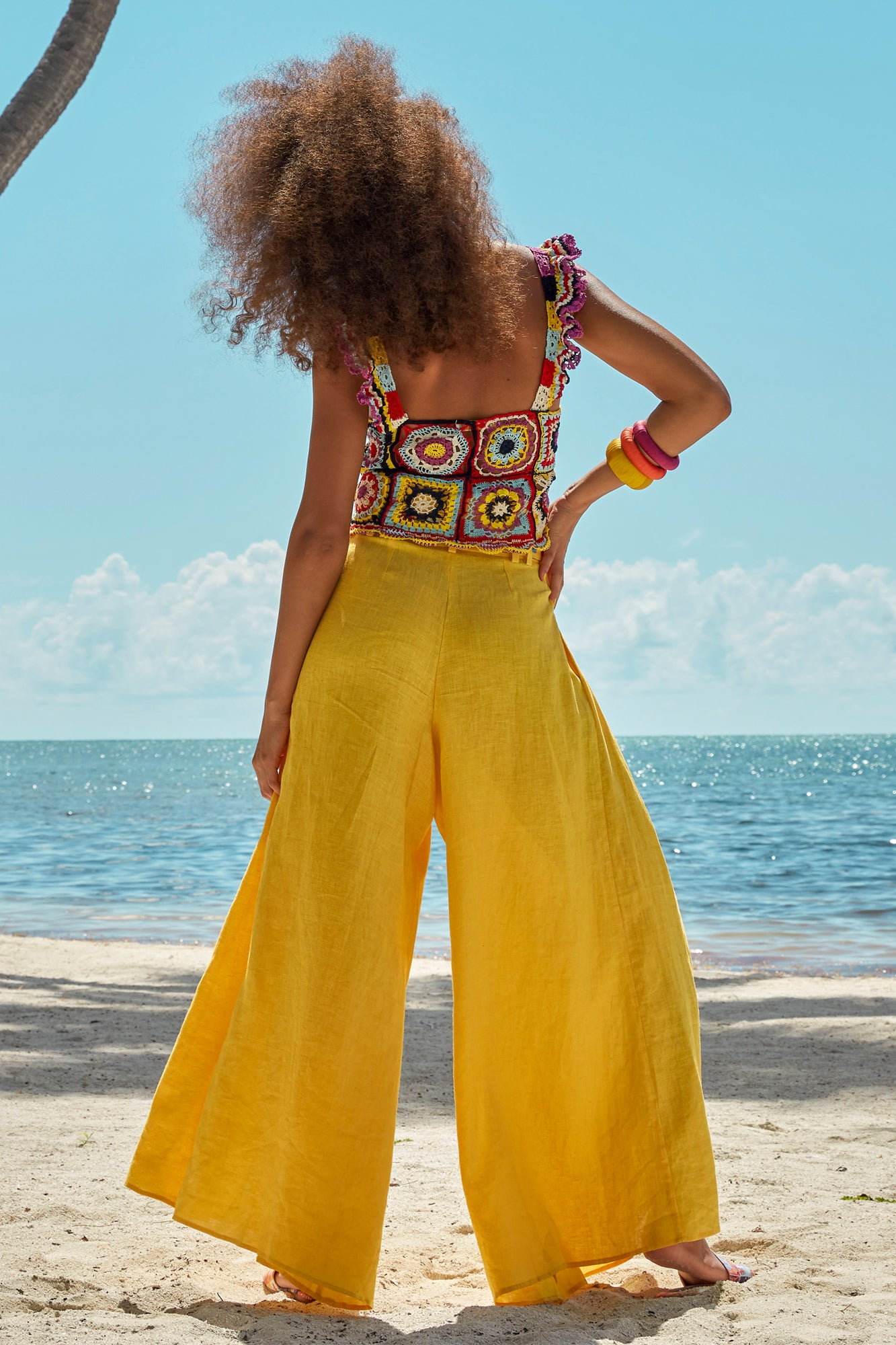Carolina K Palo Pant in Sunset Yellow