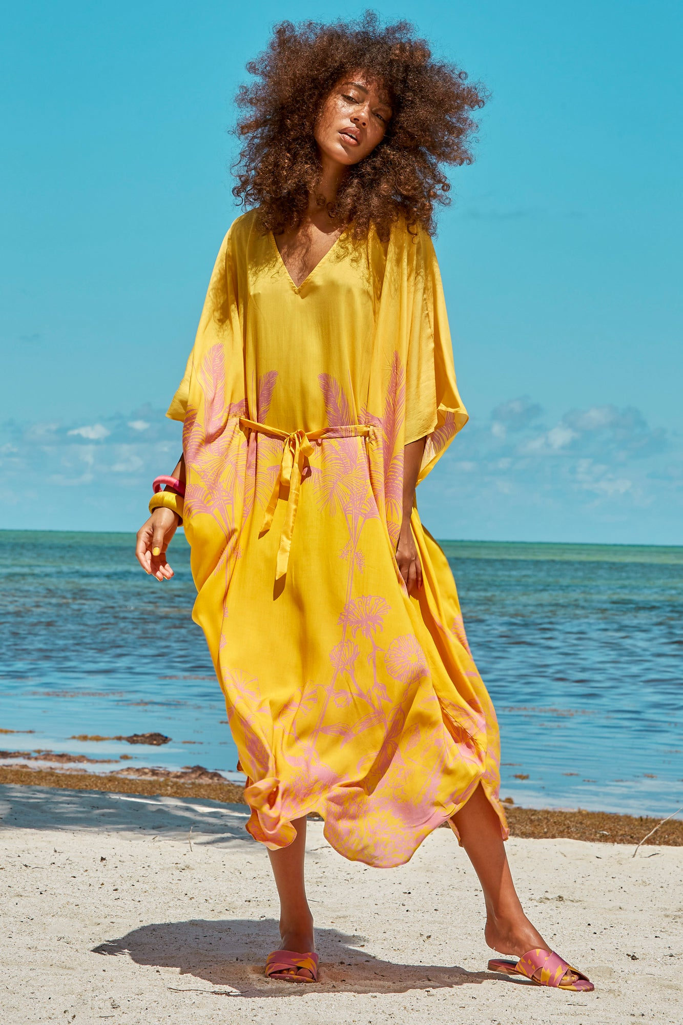 Carolina K Xim Kaftan in Sunset Yellow