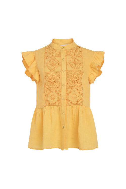 Carolina K Anna Vest Sunset Yellow