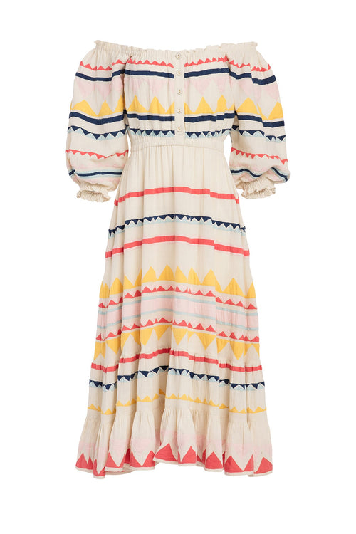 Carolina K Alexa Dress Multi Triangles