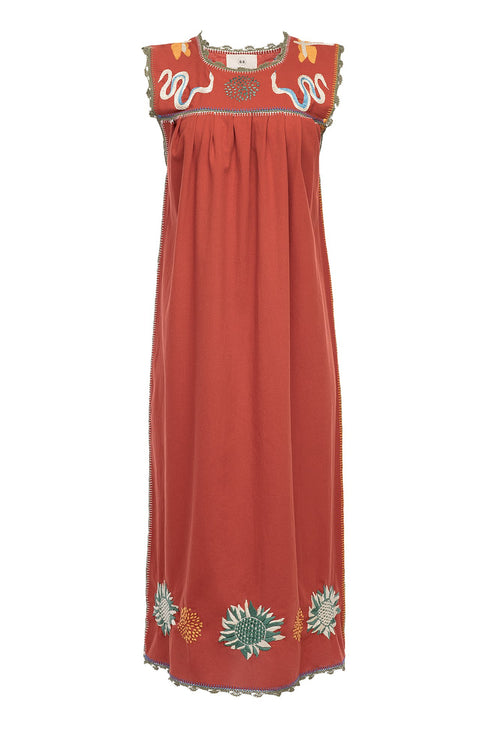 Carolina K Andi Dress Koi Red