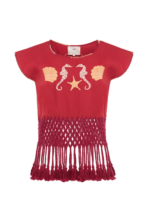Carolina K Anita Top Red