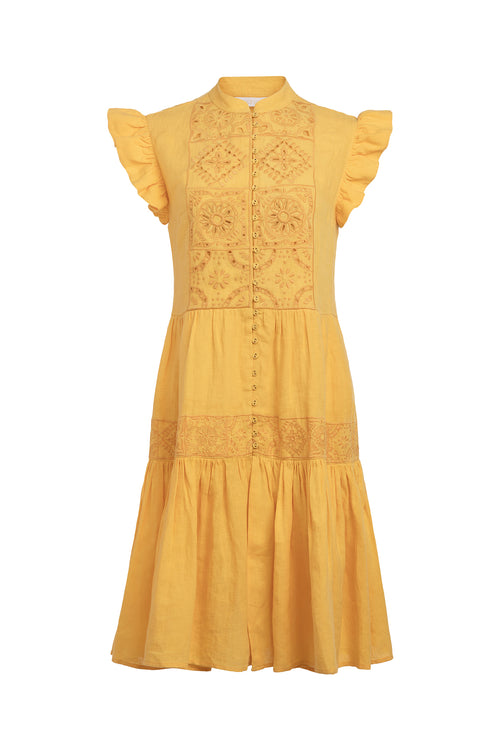Carolina K Anna Dress in Sunset Yellow