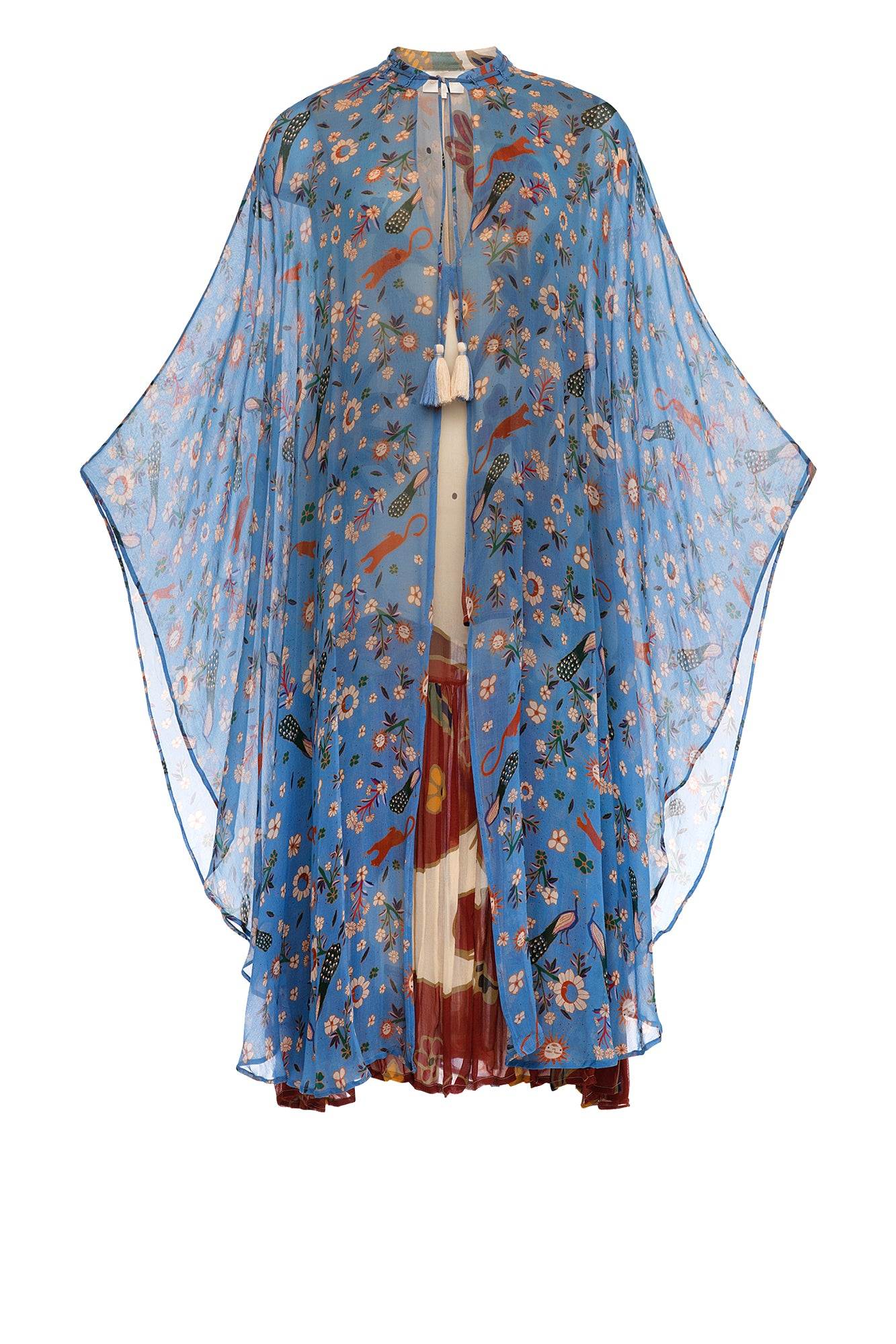 Carolina K Barbara Kaftan Dress Sunflowers