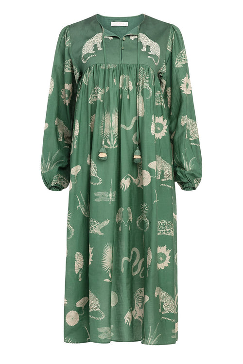 Carolina K Betka Dress Desert Animals Green