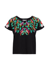Carolina K Birds Top Black