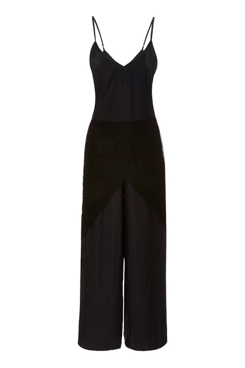 Carolina K Bermuda Jumpsuit Black