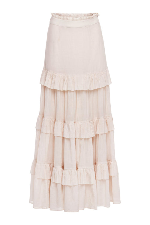 Carolina K Cat Skirt Off White