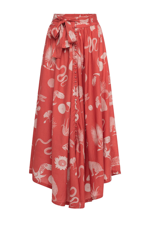 Carolina K Circle Skirt Desert Animals Koi