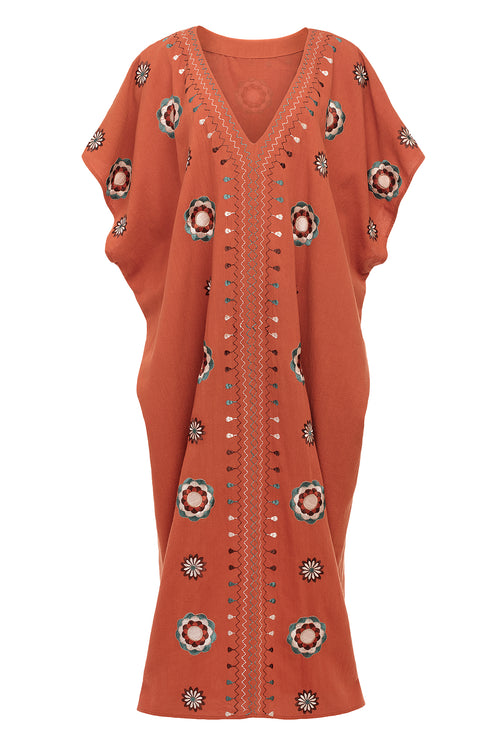 Carolina K Diane Kaftan Koi Red