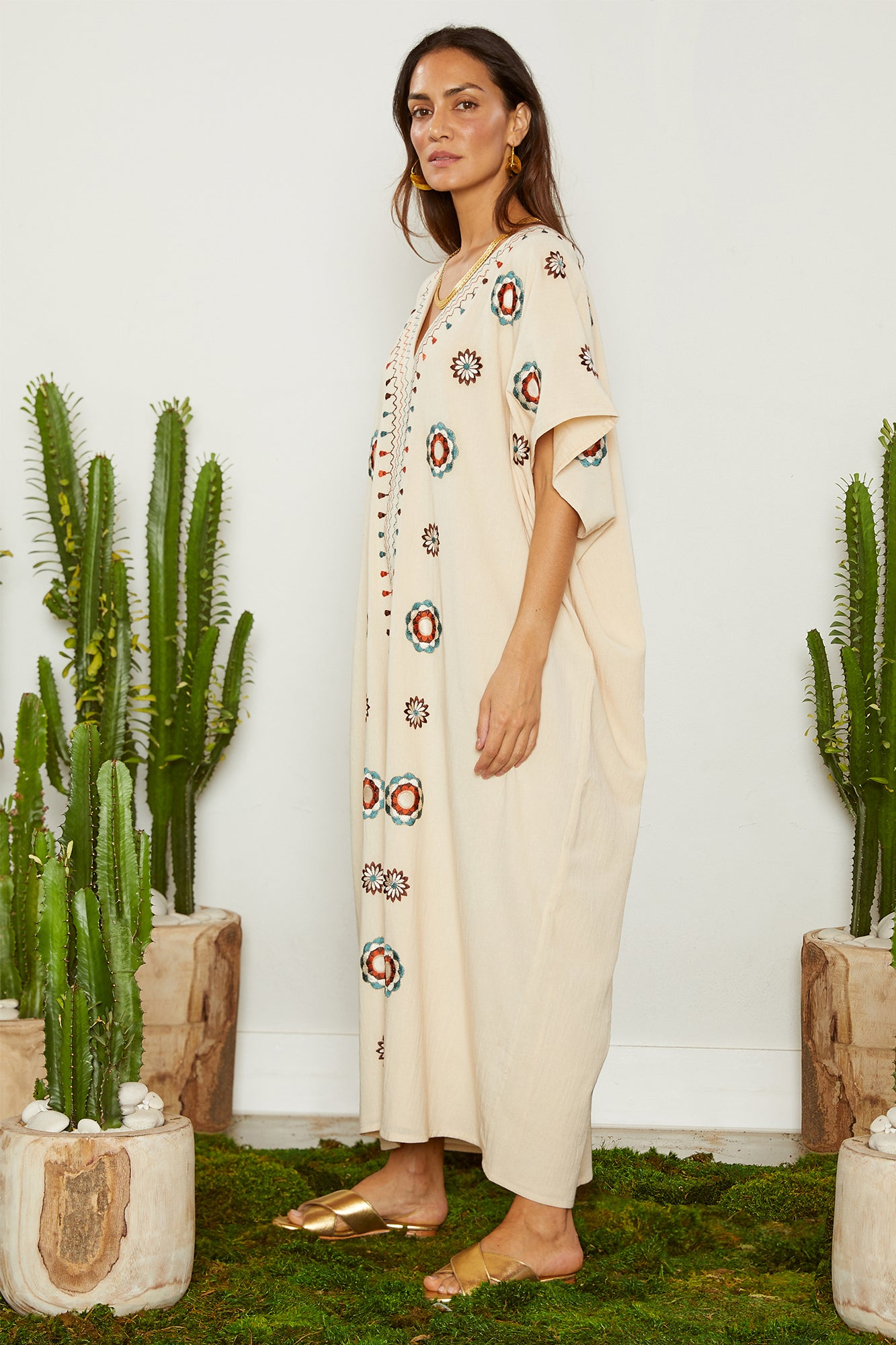 Carolina K Diane Kaftan Cream