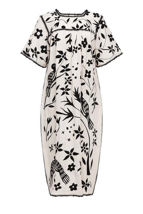 Carolina K Ignes Dress Off White/Black