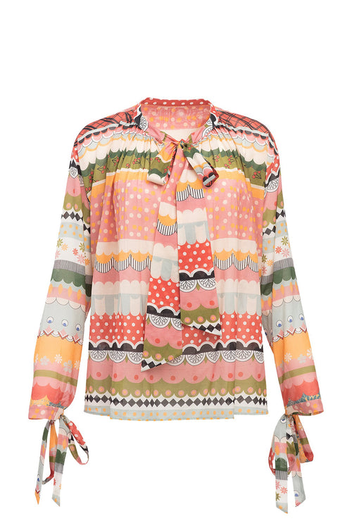 Carolina K Ilma Top in Multi Stripes