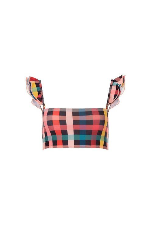 Carolina K Kuna Bikini Top - Hi Plaid