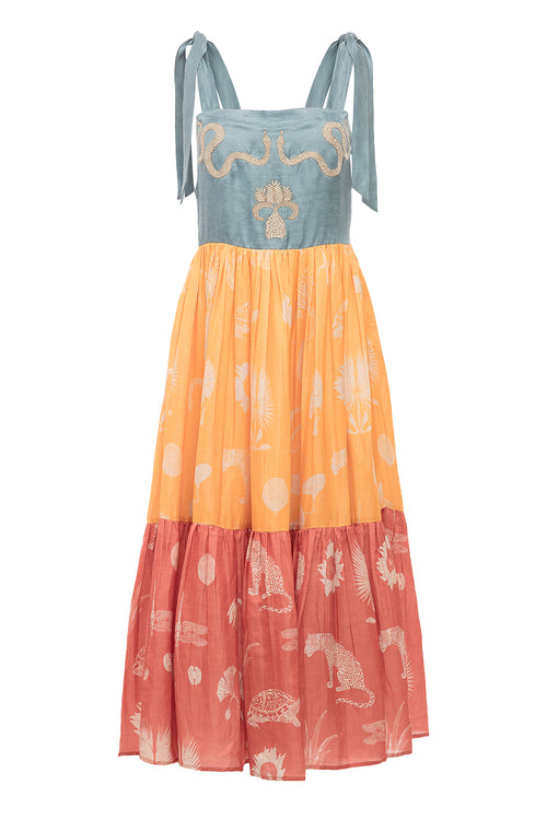 Carolina K Kuna Dress Desert Animals Multi