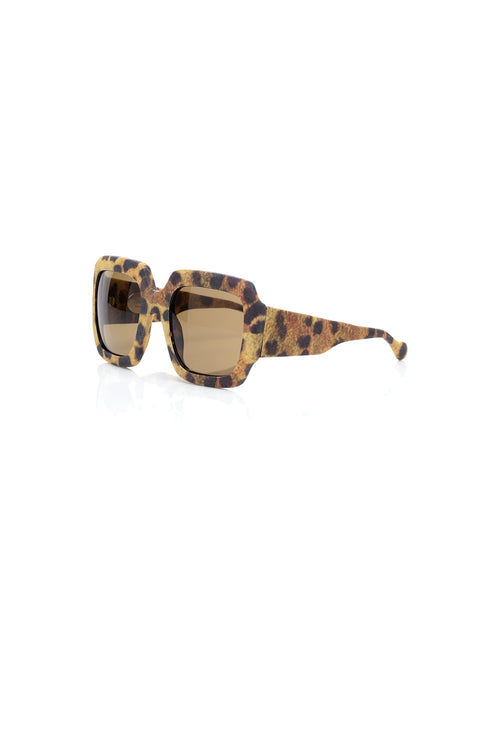 Carolina K Leopard Sunglasses