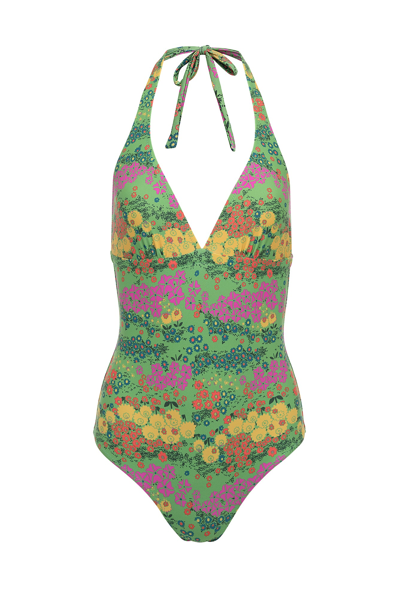 Carolina K Leticia One Piece Vintage Green Flowers