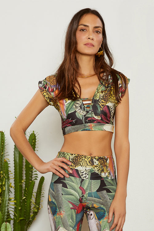 Carolina K Liset Bikini Top Sacred Animals