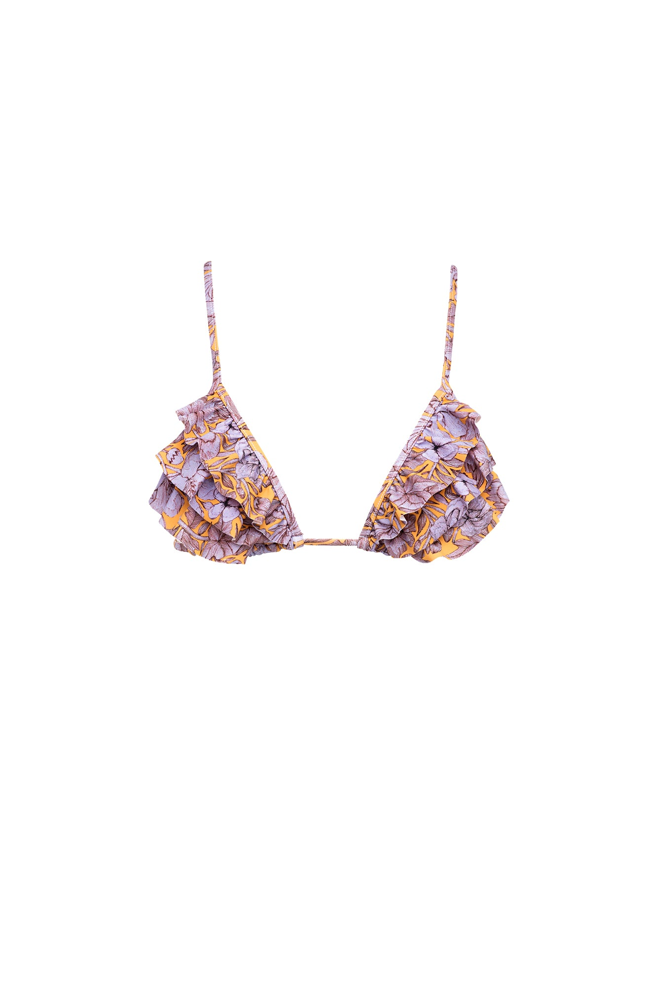 Carolina K Louise Bikini Top Purple Peonies