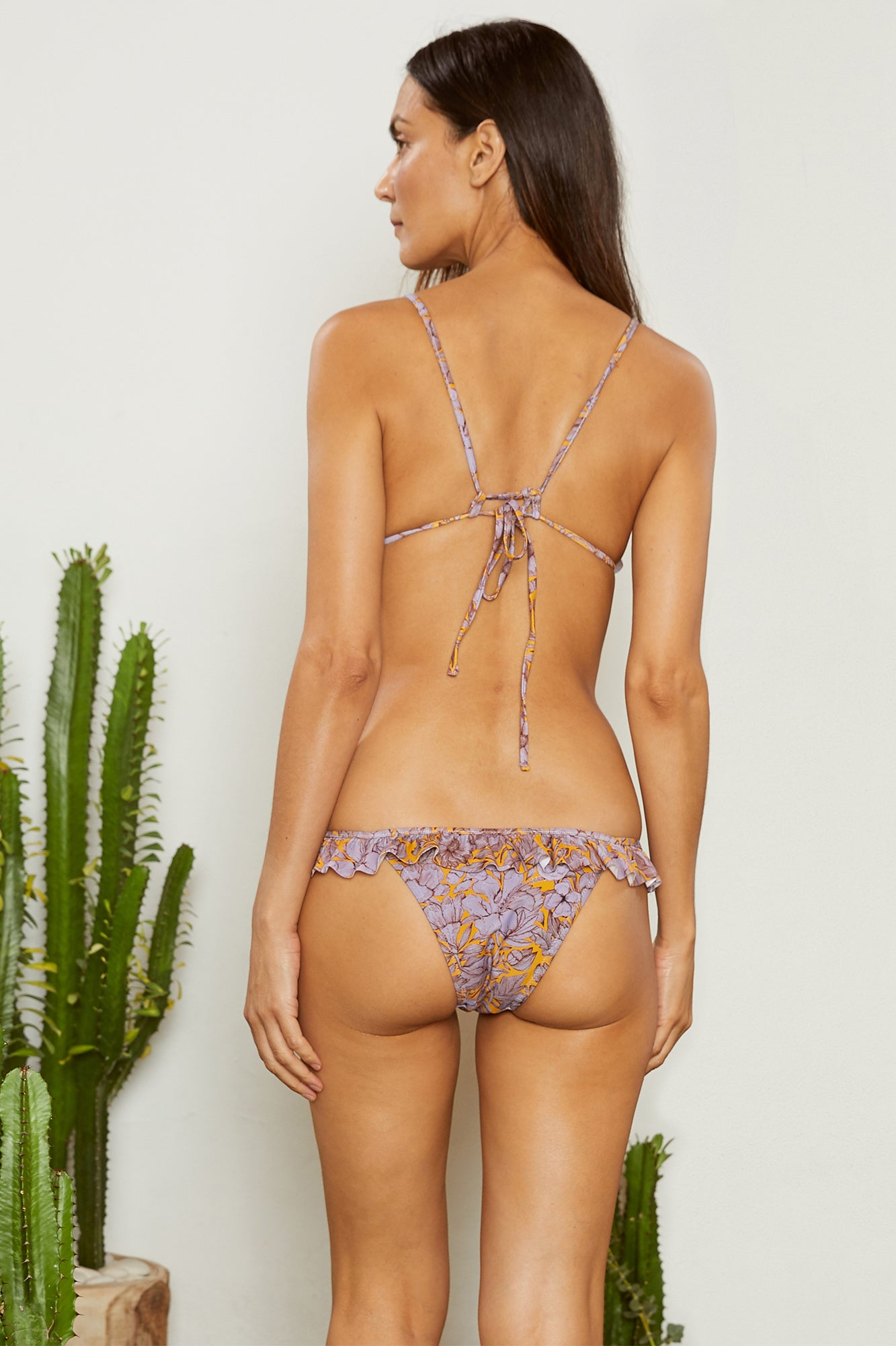 Carolina K Louise Bikini Bottom Purple Peonies