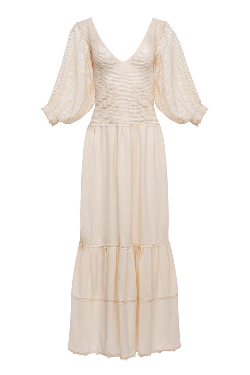 Carolina K Magdalena Dress Cream