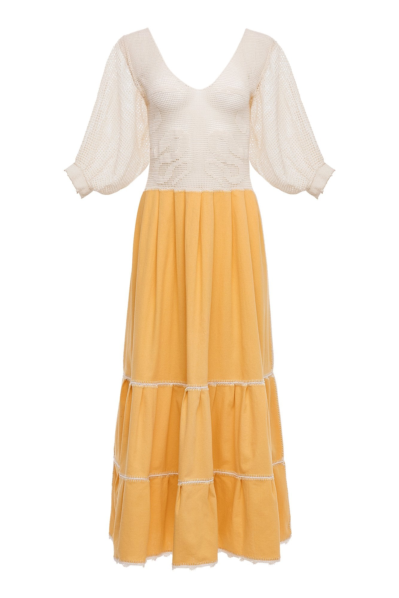 Carolina K Magdalena Dress Yellow
