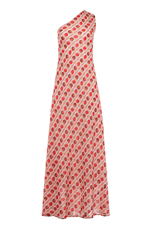 Carolina K Margot Dress Coral Shells