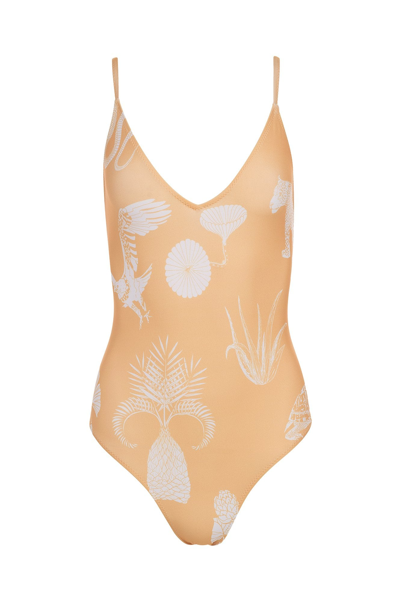 Carolina K Marieta One Piece Desert Animals Gold