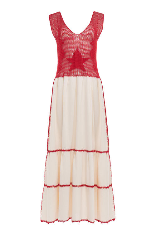 Carolina K Martina Dress Red