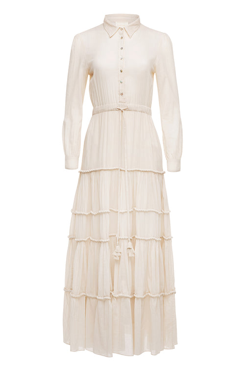 Carolina K Natalie Dress Off White