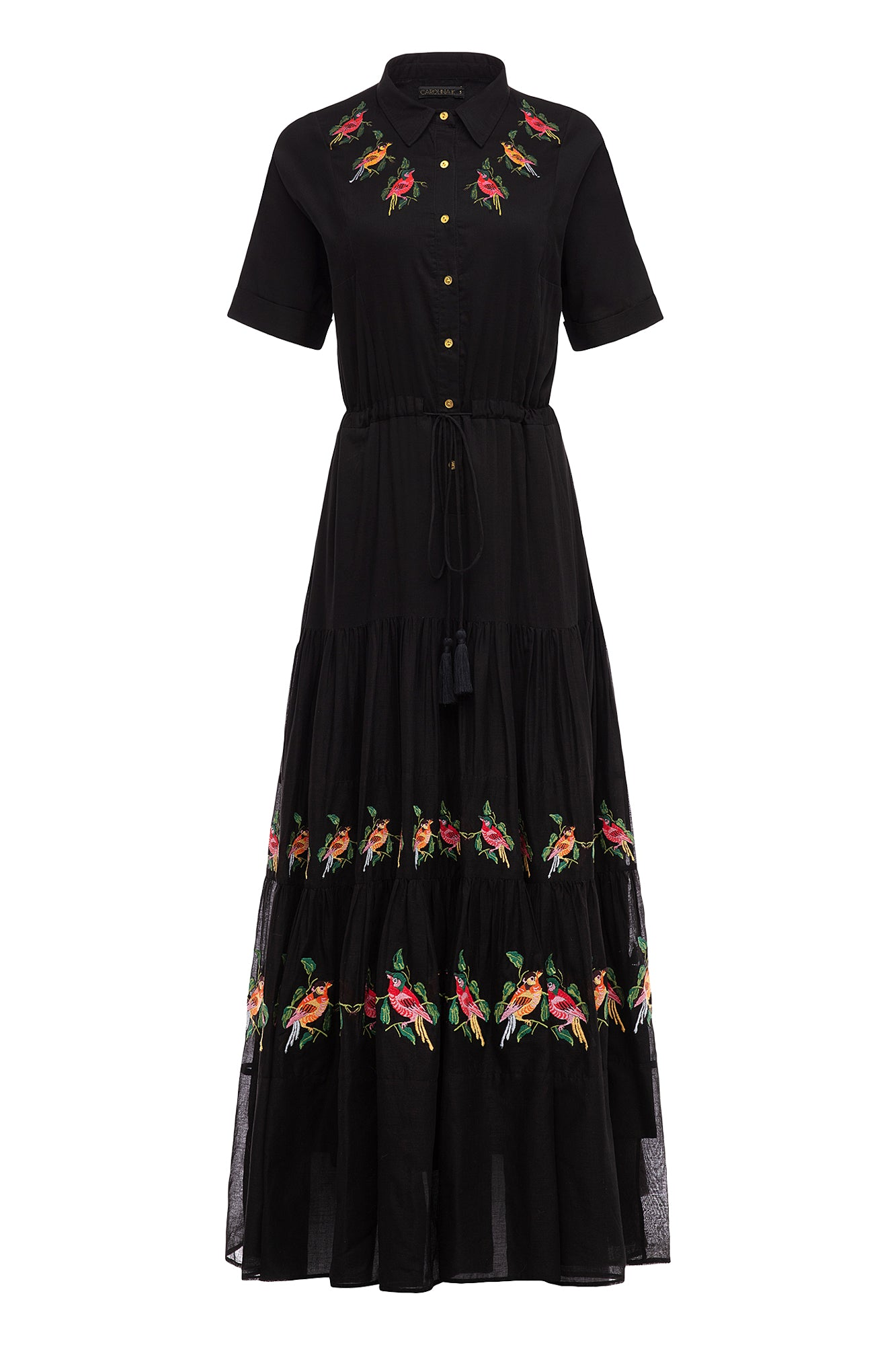 Carolina K Natalie Short Sleeve Dress Black