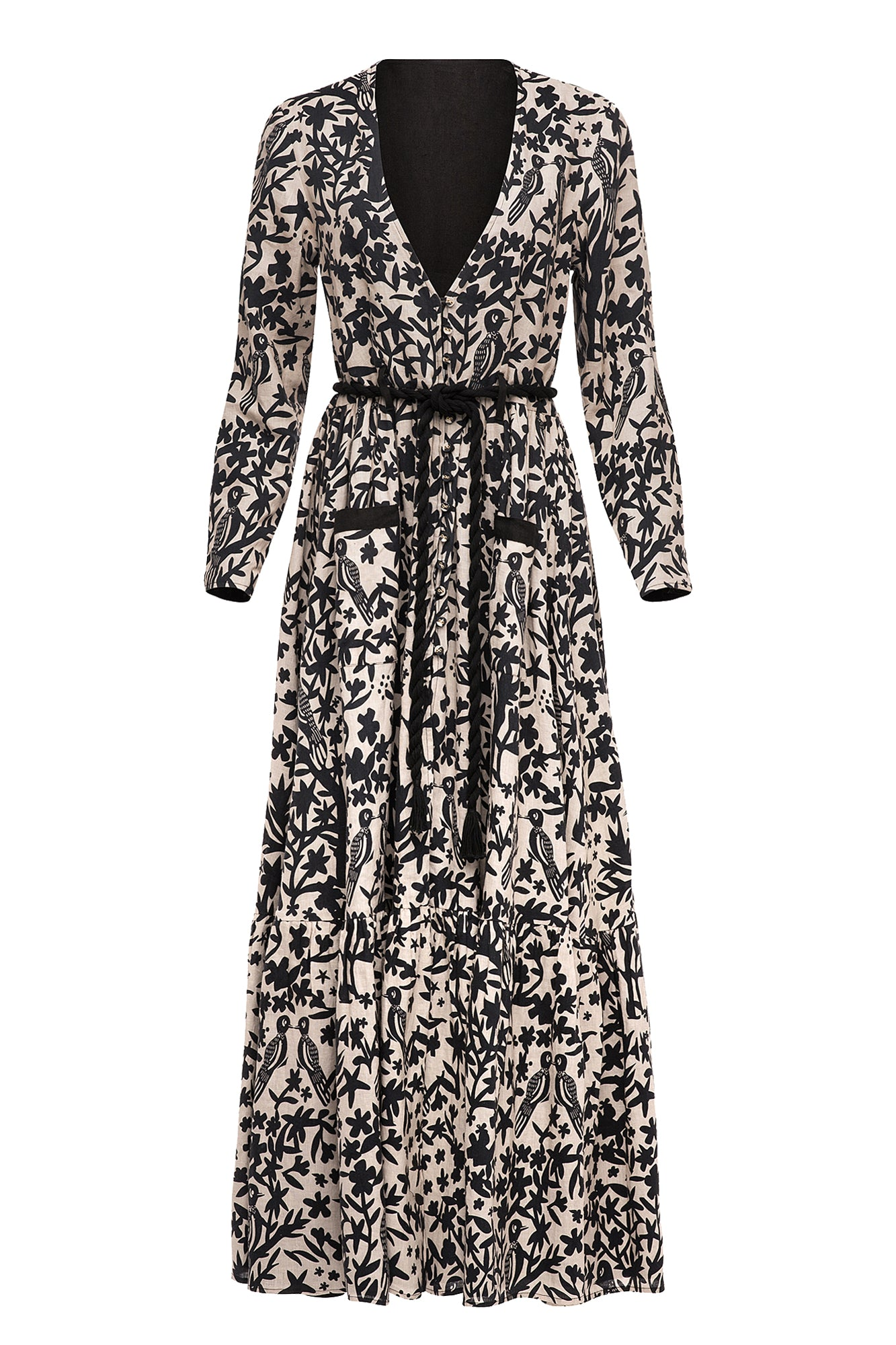 Carolina K Reversible Rosa Robe Off White/Black
