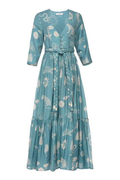 Carolina K Rosa Robe Desert Animals Blue