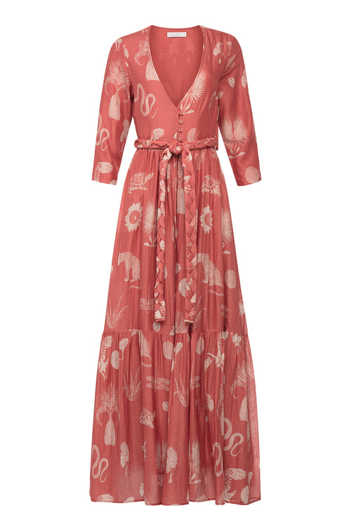 Carolina K Rosa Robe Desert Animals Koi