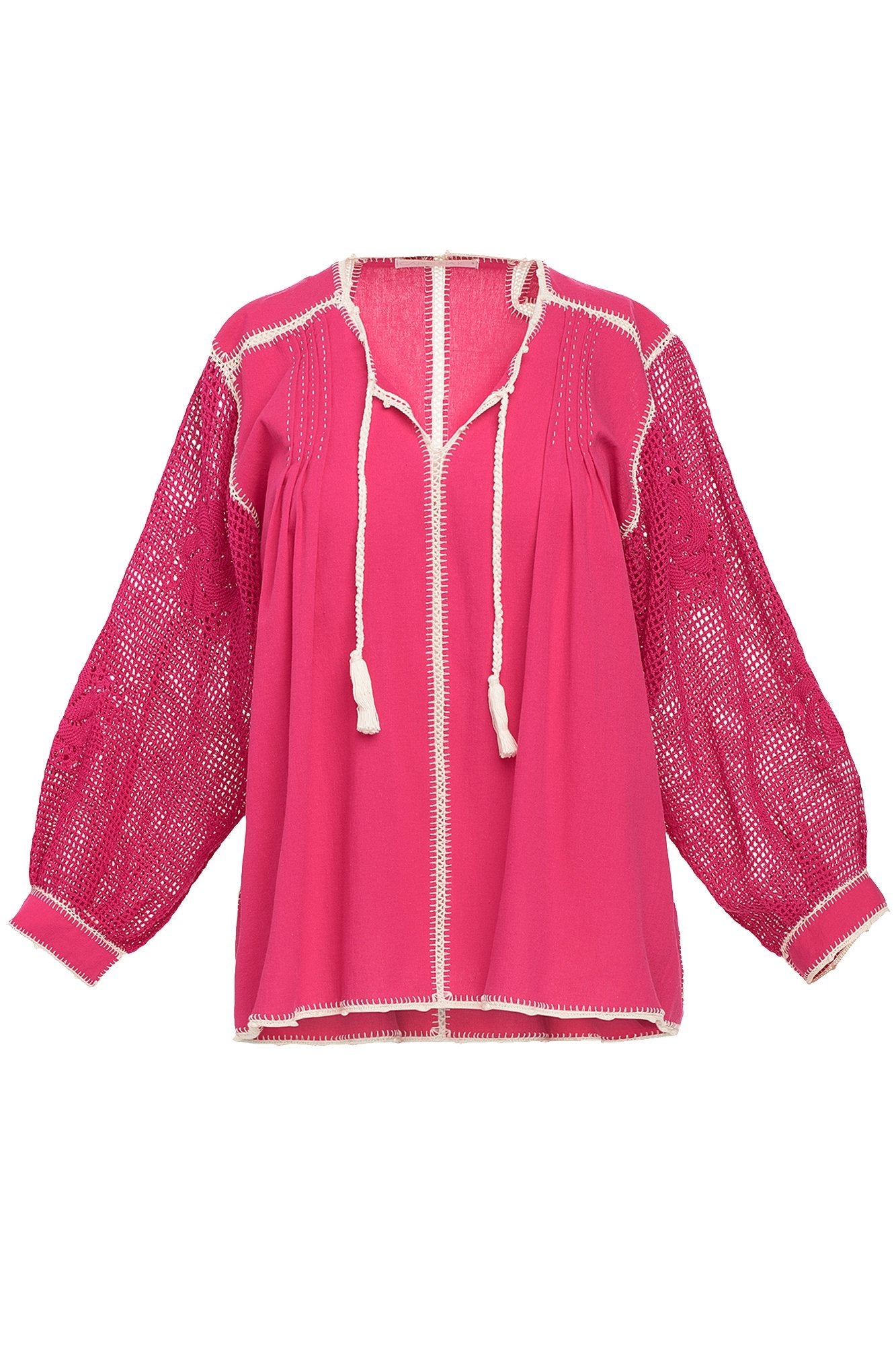 Carolina K San Juan Blouse in Fuchsia