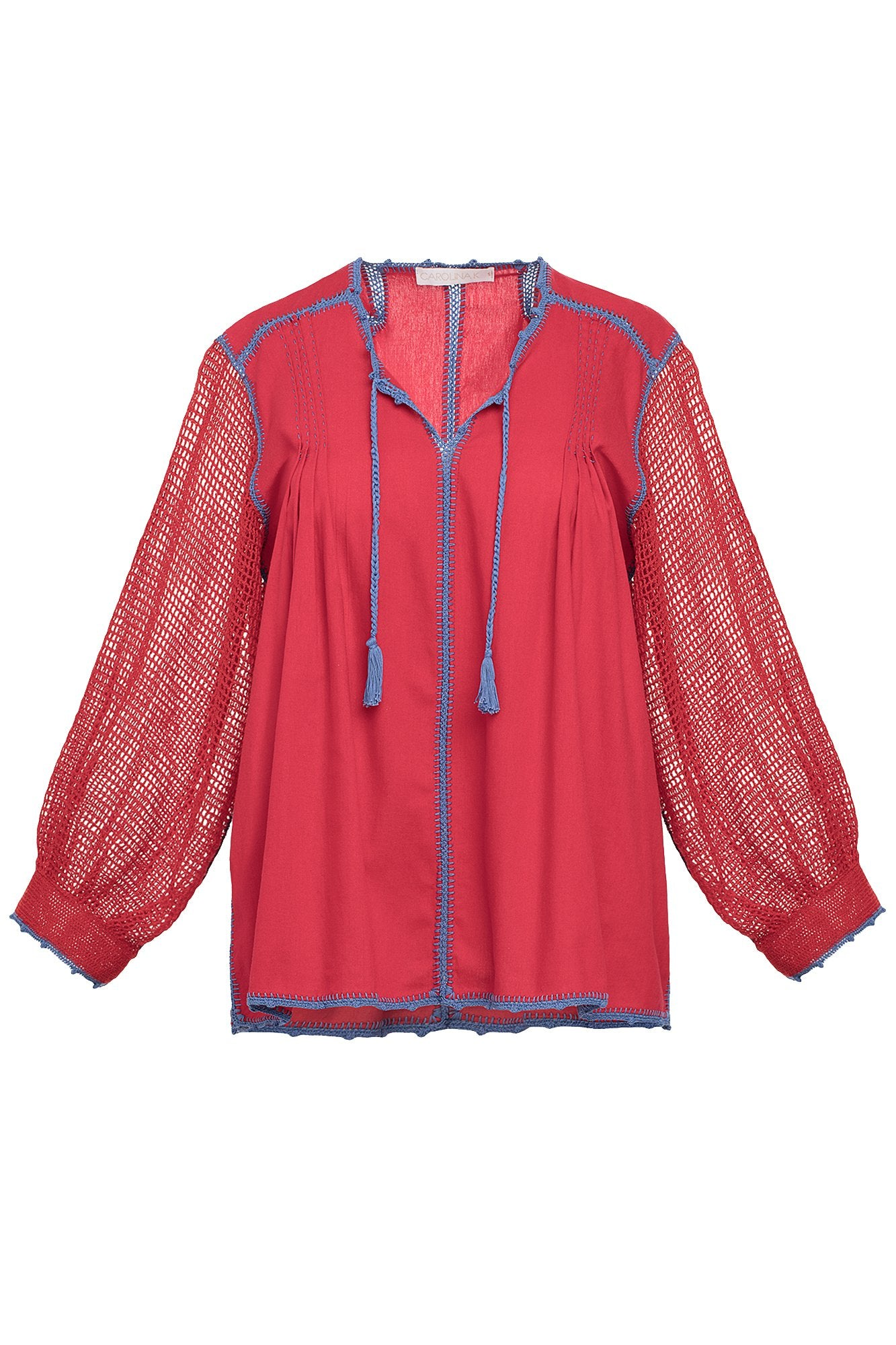 Carolina K San Juan Blouse in Red