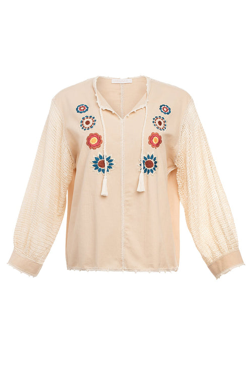 Carolina K San Juan Blouse in Flower Power