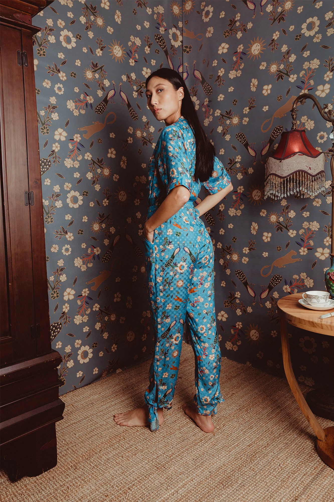 Carolina K Saylor Jumpsuit Sunflowers