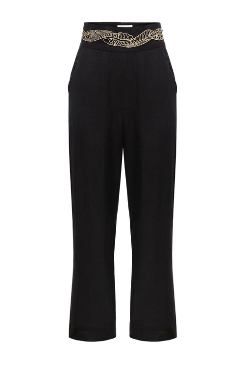 Carolina K Straight Pants Black