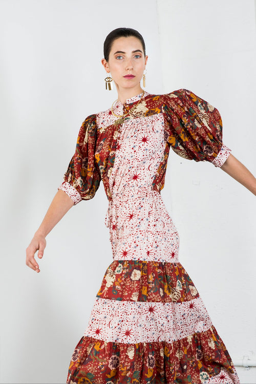 Carolina K Tara Dress Antique Flowers