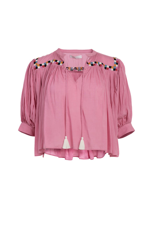 Carolina K Tarahumara Top in Wild Rose