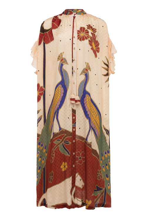 Carolina K Valerie Dress Peacocks