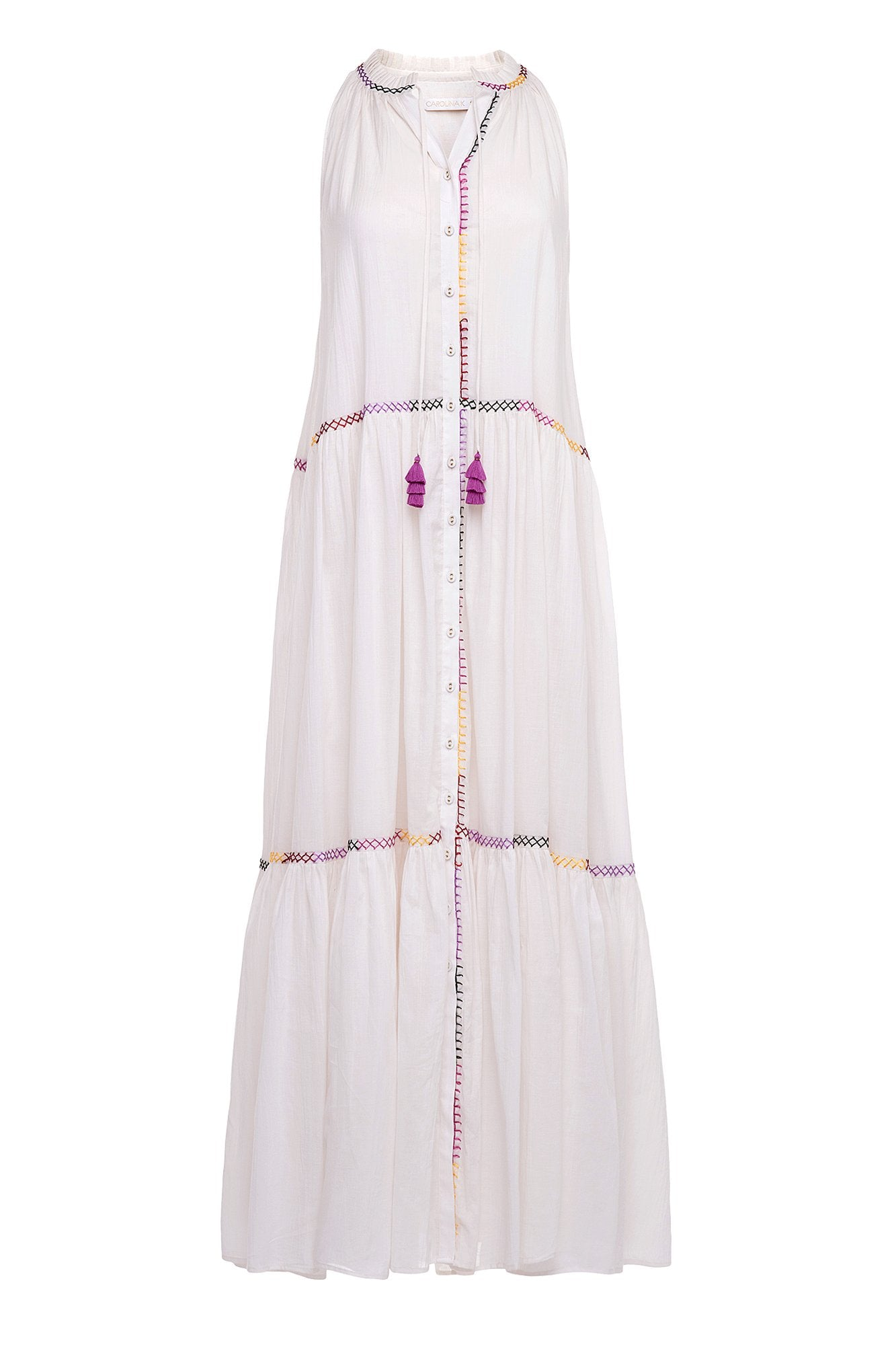 Carolina K Vall Kaftan Off White